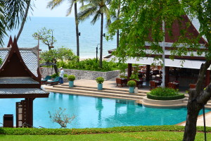 Beachfront Pool and Taste of Siam Restaurant